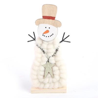 양모 스탠딩 인형장식 (눈사람)
