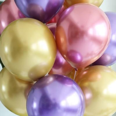 천장장식 크롬풍선(헬륨효과)세트-루비바이올렛