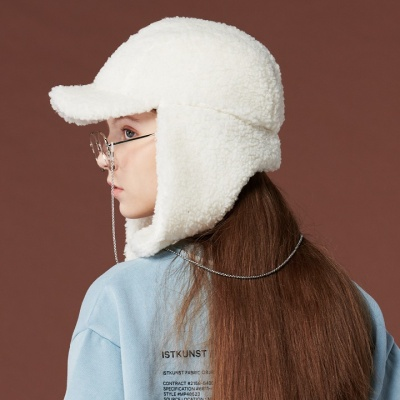 [리끌로우] 귀도리 모자 아이보리