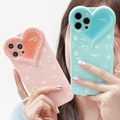 아이폰 12 11 pro max 빅하트 귀여운 실리콘 케이스