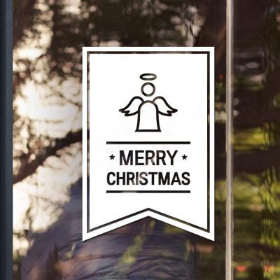 제제데코 크리스마스 눈꽃 스티커 장식 CMS4J139