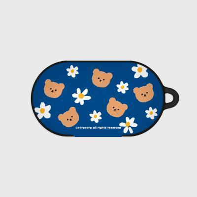 Dot flower bear-blue(Buds hard case)