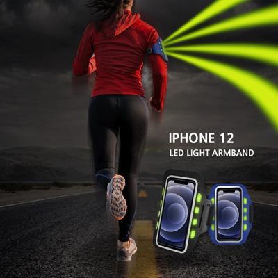 아이폰12 야간등산 LED발광 스마트폰 안전 암밴드