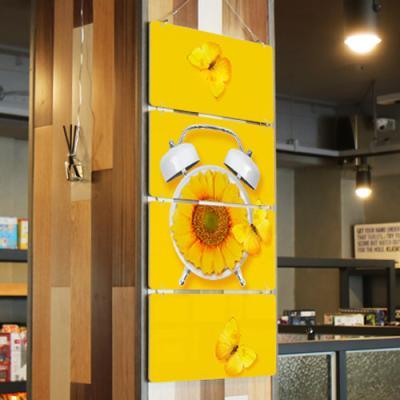 nk746-노란색배경에노란색해바라기꽃(4단)