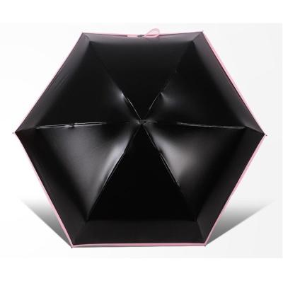 미니 포켓 5단 접이식 초경량 UV 자외선 차단 우양산