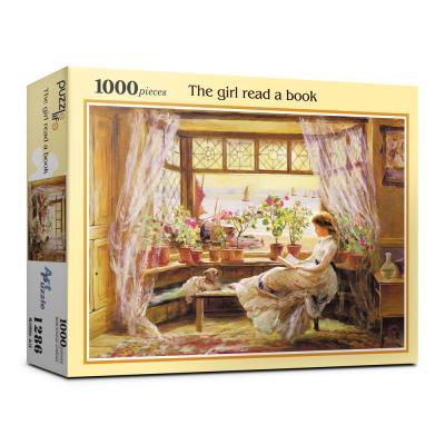 1000피스 독서하는 소녀 직소퍼즐 PL1286