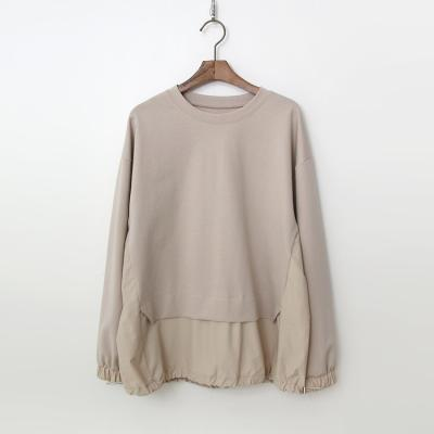 Banu Cotton Shirring Sweatshirt