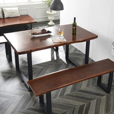 심플라인 통 원목 테이블 벤치 세트 1800