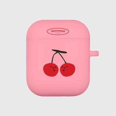 refreshing cherry 에어팟 케이스[pink]