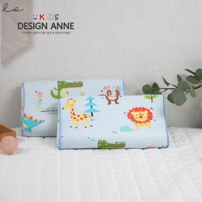 [디자인엔] 순면 애니멀즈 아동메모리폼베개-블루