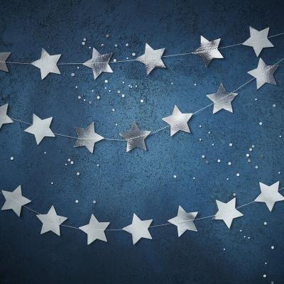 [빛나파티]유광 실버 별 가랜드 5m Star Garland