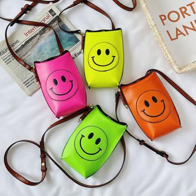 챈플 스마일 귀여운 컬러풀 스마트폰 가방 미니백