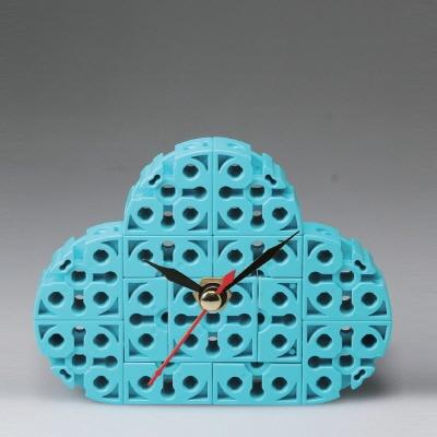 구름 블럭시계 (170222) 블럭레고형시계,조립시계