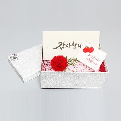 카네이션브로치+선물포장+감사카드+용돈봉투세트