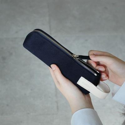 Zippered Pencil Case (캔버스)네이비