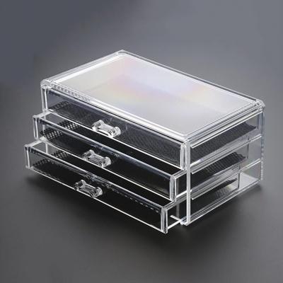 3단 투명 화장품 정리함 화장품수납함 메이크업수납