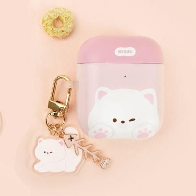하드 고양이 냥이 에어팟 케이스+냥이 키링