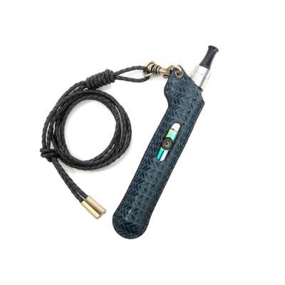 천연소가죽 목걸이 전자담배 케이스 - 패턴드 블루