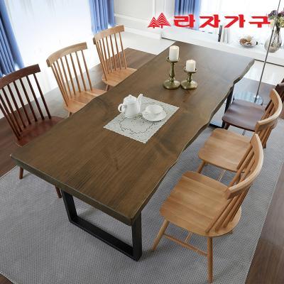 쥬디앙 우드슬랩 식탁 테이블 8인 2000