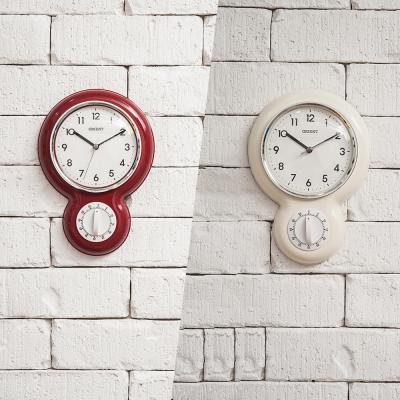 오리엔트 OT758 무소음 키친 타이머 인테리어벽시계