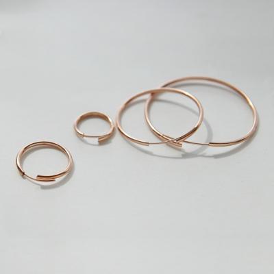 제이로렌 91M02019-3cm 순은 로즈골드 링 실버귀걸이
