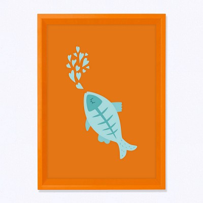 주폴라 릴리 오렌지/ 아이방 북유 인테리어 액자