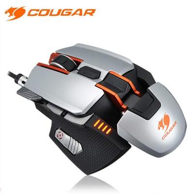 쿠거 레이저 게이밍 마우스 COUGAR 700M SILVER (8200DIP / 45도 스나이퍼 핫키 / DPI 변환 버튼 / 높낮이 조절 / 꼬임 방지 케이블 / 무게 조절)