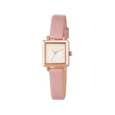 미니 스퀘어 윈도우 시계 핑크 W217LWPK
