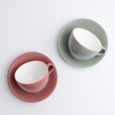 코하스 파스텔 커피잔 2인 세트 레드 민트