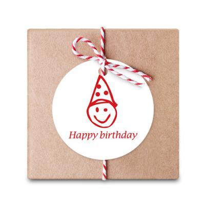 화이트꼬깔 생일 원형 [텍] (10개)
