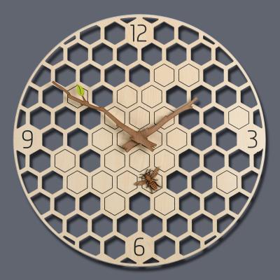 (ktk157)저소음 꿀벌 벽시계