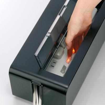 심플인테리어 케이블 전선정리 투명커버 멀티탭박스 L