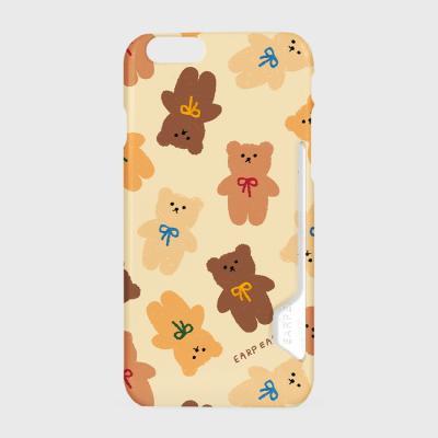 Dot ribbon bear-ivory(카드수납케이스)