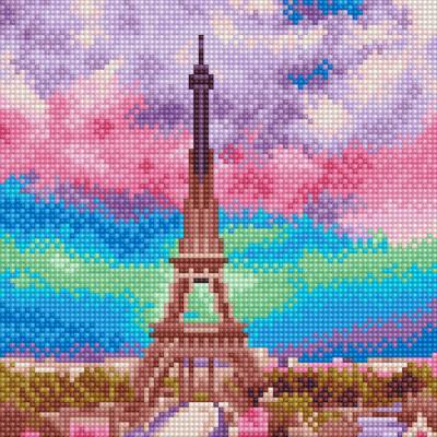 아이엠미니 DIY 보석십자수 25x25_몽환적인 에펠탑