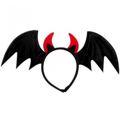 악마날개머리띠 [블랙] 할로윈머리