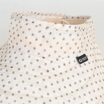 [디꾸보]도트 벨크로 돌돌이 썬캡 여성모자 DCH-AC549