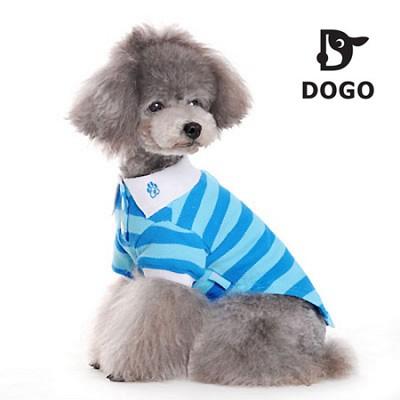 도고 폴로 애견셔츠(블루) 애견 티셔츠/강아지 옷/애견의류