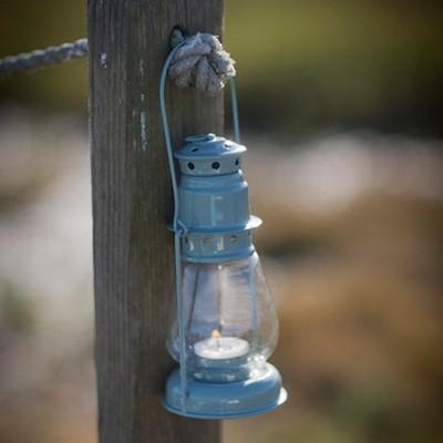 Miners Lantern in Shutter Blue