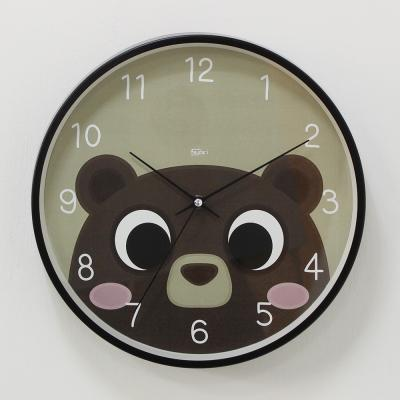 (kdrz148)저소음 스틸 곰돌이시계 300 블랙
