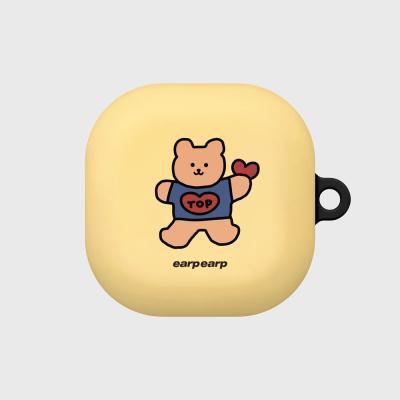 Bear heart-creamyellow(buds live hard)