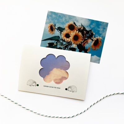 PHOTO MESSAGE CARD_GOOD LUCK TO YOU