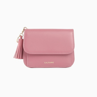 Dijon N301R Round Card Wallet Rose pink