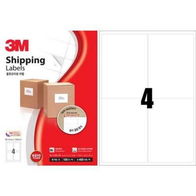 3M 일반형 물류관리용 라벨 (21304 4칸 100매)