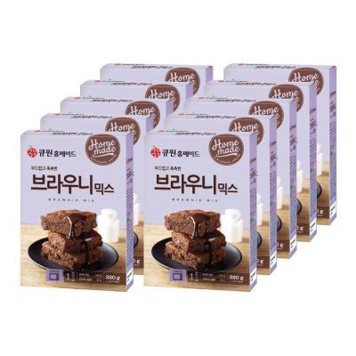 큐원 브라우니 믹스 320gx10개/전자레인지용