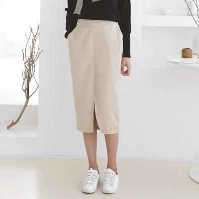 Corduroy Slit Skirt