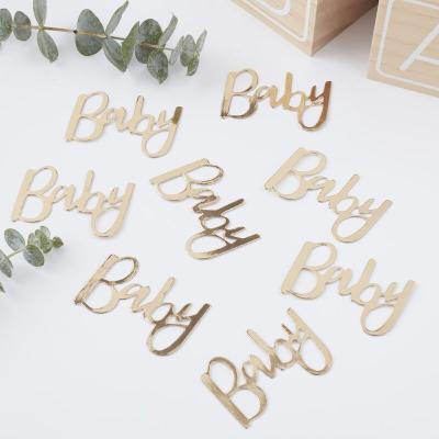 골드 베이비샤워 Baby 테이블 컨페티 Baby Confetti