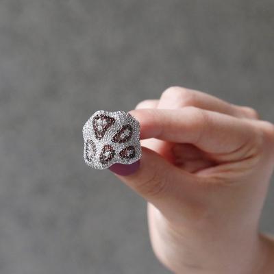 바이데이지 SR027 투톤 큐빅 포인트 반지