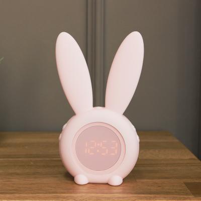 (kcrz101)Bunny 탁상시계 핑크(무드등 겸용)
