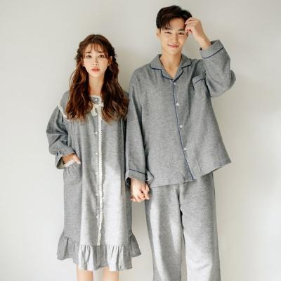 [쿠비카]기모 셔링 원피스 여성잠옷 W525