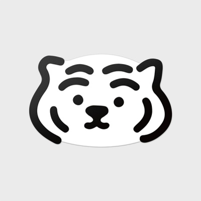 백호 뚱랑이 빅 리무버블 스티커